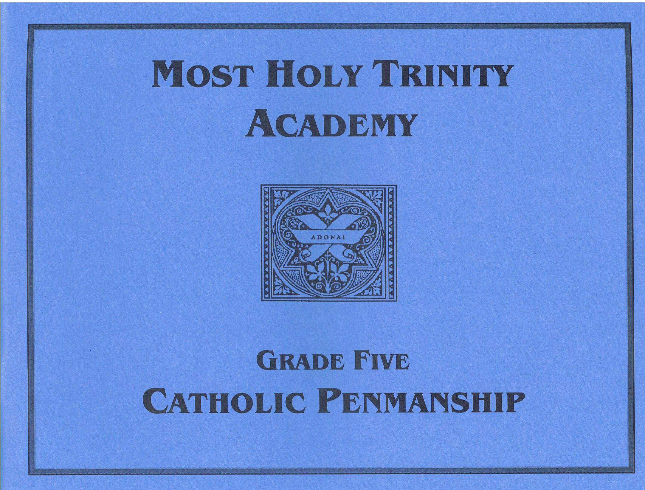 Image for Catholic Penmanship Grade Five