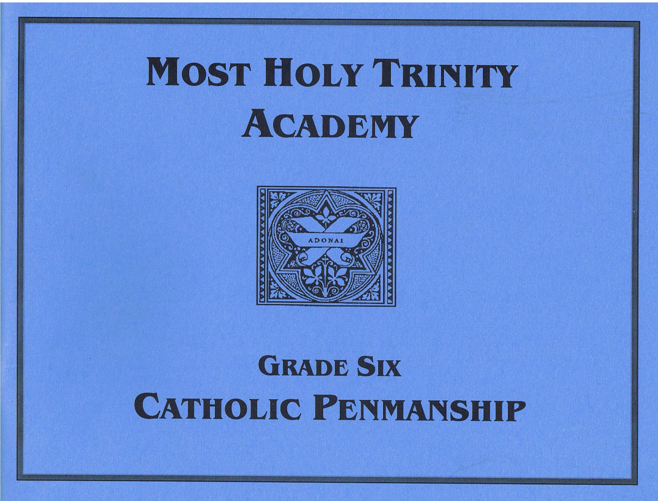 Image for Catholic Penmanship Grade Six