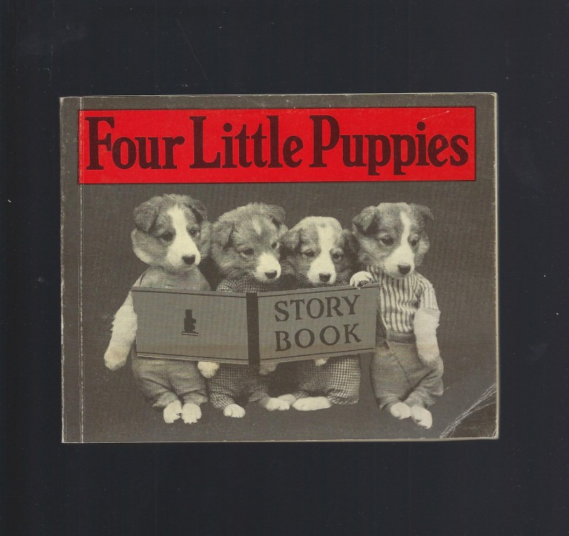 Image for Four Little Puppies Story Book Vintage Reprint 1983