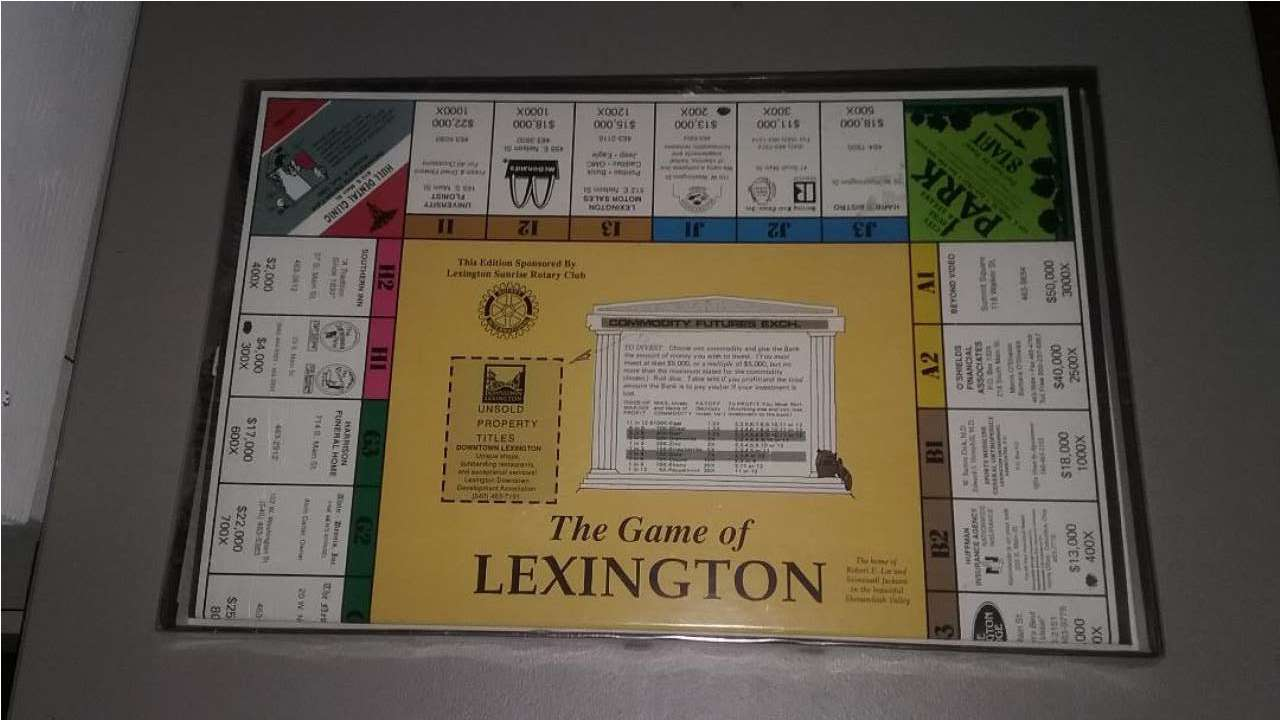 Image for The Game of Lexington Virginia (Monopoly) New VMI W&L