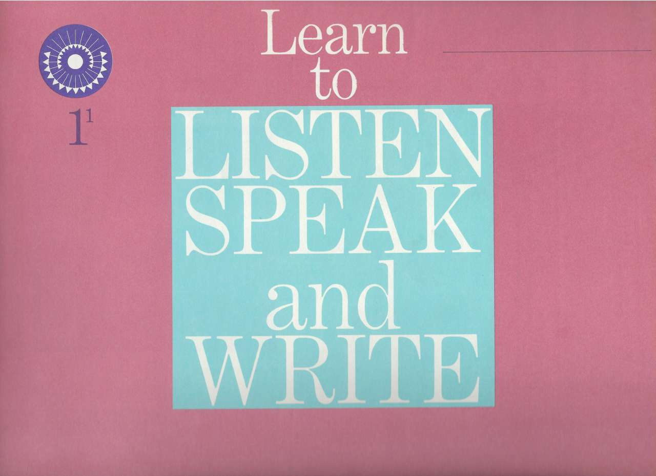 Image for Learn to Listen Speak and Write 1-1 (Dick & Jane) 1961