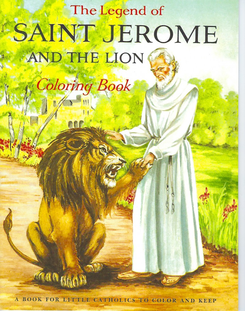 Image for The Legend of Saint Jerome and the Lion Coloring Book