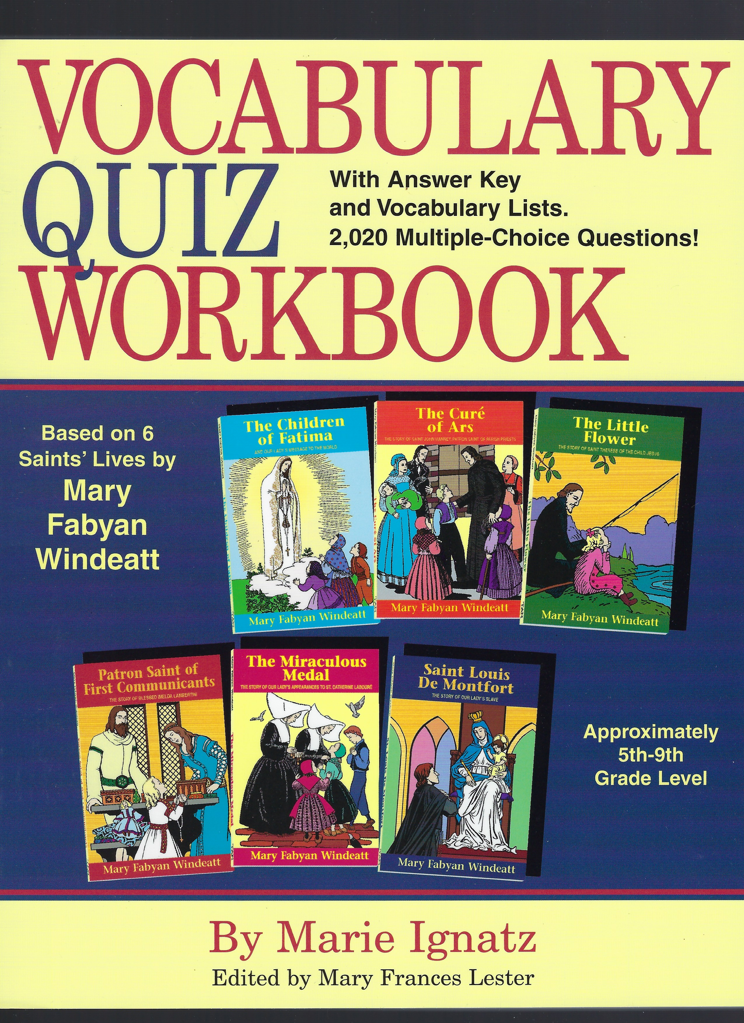 Image for Vocabulary Quiz Workbook Based on 6 Saints' Lives By Mary Fabyan Windeatt